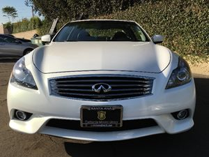 2014 INFINITI Q60 Coupe Premium Carfax 1-Owner - No AccidentsDamage Reported  Moonlight White