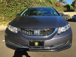 2015 Honda Civic Sedan LX Carfax 1-Owner  Gray  We are not responsible for typographical error