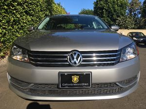 2014 Volkswagen Passat S PZEV Carfax 1-Owner - No AccidentsDamage Reported  Platinum Gray Meta