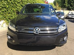 2014 Volkswagen Tiguan R-Line  Deep Black Pearl  All advertised prices exclude government fees