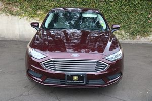 2017 Ford Fusion S Carfax 1-Owner  Ruby Red Metallic Tinted Clearco 17047 Per Month - On App