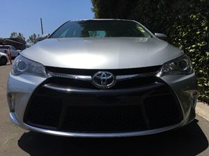 2016 Toyota Camry SE  Celestial Silver Metallic All advertised prices exclude government fees a