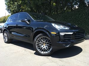 2017 Porsche Cayenne Platinum  Black  All advertised prices exclude government fees and taxes