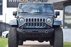 2008 Jeep Wrangler Sahara Carfax Report - No AccidentsDamage Reported  Steel Blue Metallic 2