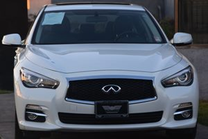 2015 INFINITI Q50  Carfax 1-Owner - No AccidentsDamage Reported  Moonlight White 2809 Per M