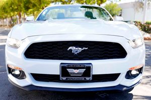 2017 Ford Mustang EcoBoost Premium  White 2809 Per Month -ON APPROVED CREDIT---  ---