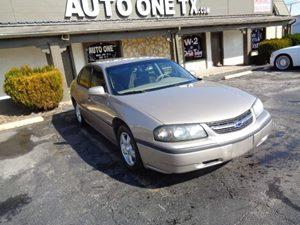 2002 Chevrolet Impala  Carfax Report Audio Cassette Audio Cd Player Convenience Intermittent