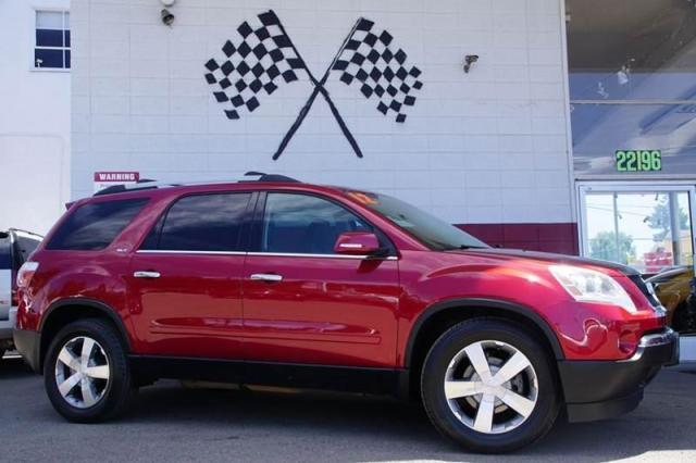 2012 GMC Acadia SLT1 Audio  Auxiliary Audio Input Audio  Premium Sound System Audio  Rear Sea