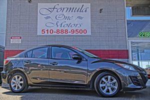 2010 Mazda Mazda3 i Touring 3-Spoke Urethane Steering Wheel WAudio Controls 6040 Split Fold-Dow