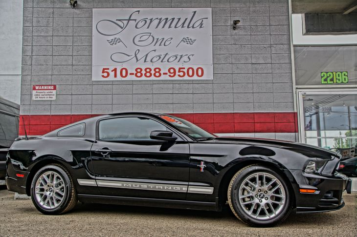 2013 Ford Mustang V6 4 Gauge Chrome-Accented Instrument Cluster WAir Registers Audio AmFm St