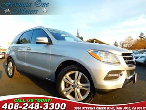 2013 MERCEDES ML 350 BlueTEC SUV Carfax Report Black Leather Seat Trim Iridium Silver Metallic