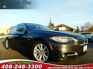 2015 BMW 5 Series 528i Black Dakota Leather Upholstery Heated Front Seats Piano Finish Black Tr