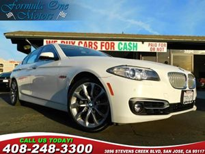 2014 BMW 5 Series 535i Carfax Report Heated Front Seats Mineral White Metallic Piano Finish Bla