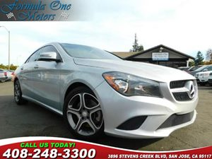 2014 MERCEDES CLA 250 Coupe Carfax Report Heated Seats Polar Silver Metallic Audio  Auxiliary