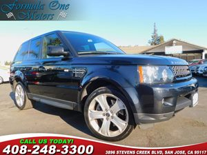 2012 Land Rover Range Rover Sport HSE LUX Carfax Report Black Lacquer Wood Trim Luxury Interior P
