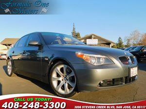 2005 BMW 5 Series 545i Carfax Report Cold Weather Pkg Navigation System Premium Sound Pkg Pwr