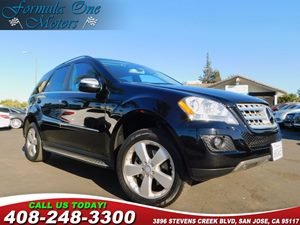 2010 MERCEDES ML 350 SUV Carfax Report Brushed Aluminum Rubber-Studded Running Boards Heated Fron