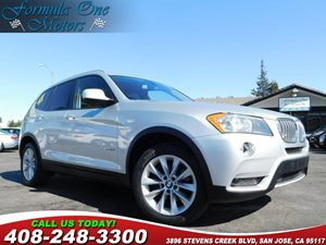 2013 BMW X3 xDrive28i Carfax Report Cold Weather Pkg Heated Front Seats On-Board Navigation Sys