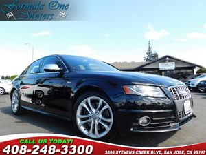 2012 Audi S4 Premium Plus Carfax Report 3-Spoke S4 Leather Steering Wheel WShift Paddles Audio