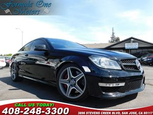 2014 MERCEDES C 63 AMG Coupe Carfax Report Black Interior Package Carbon Fiber Trim Driver Assi