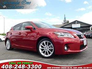 2012 Lexus CT 200h  Carfax Report  Matador Red Mica  All advertised prices exclude government