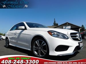 2014 MERCEDES E 250 BlueTEC Luxury Sedan Black Leather Upholstery Diamond White Metallic Illumi