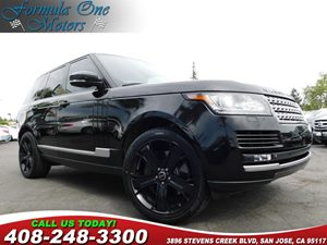 2013 Land Rover Range Rover HSE 825-Watt Meridian Audio System Barolo Black Metallic Front Seat