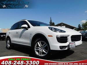 2015 Porsche Cayenne Diesel Black Roof Rails Bose Surround Sound System Brushed Aluminum Interio