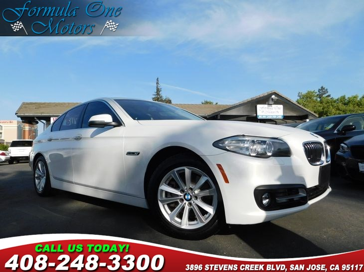 2015 BMW 5 Series 528i Mineral White Metallic Air Conditioning Multi-Zone AC Audio Auxiliary