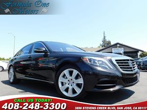 2014 MERCEDES S 550 Sedan Designo Brown Sunburst Myrtle Wood Trim Driver Assistance Package Edit