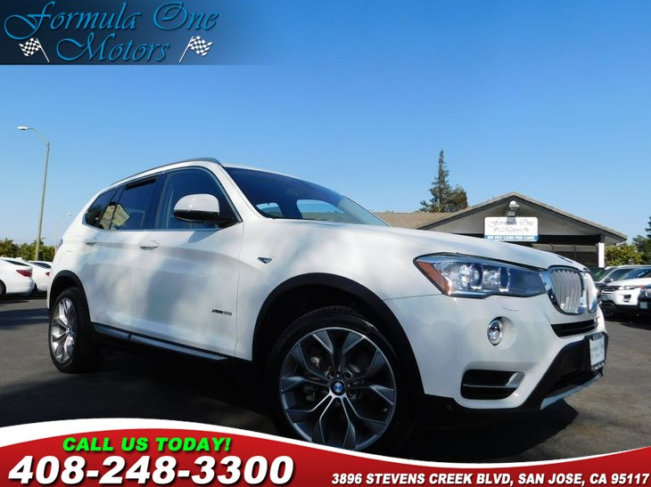 2015 BMW X3 xDrive35i Mineral White Metallic Navigation System Premium Package Saddle Brown Ne