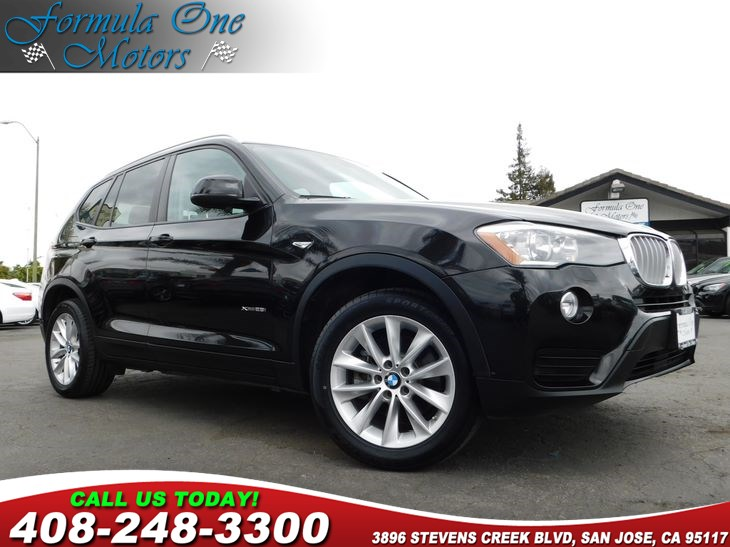 2016 BMW X3 xDrive28i Black Sapphire Metallic Black Nevada Leather Upholstery Cold Weather Pack