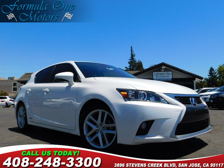 2015 Lexus CT 200h Hybrid 60-40 Folding Bench Front Facing Fold Forward Seatback Rear Seat Air Co