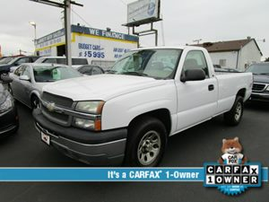 2005 Chevrolet Silverado 1500 Work Truck Carfax 1-Owner - No Accidents  Damage Reported to CARFAX