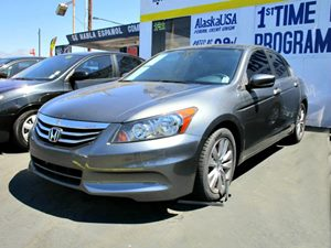 2012 Honda Accord Sdn EX Carfax 1-Owner 1-Touch Pwr Moonroof WTilt Manual Sunshade Alloy Wheel