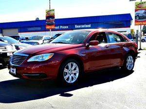 2013 Chrysler 200 LX Carfax Report - No Accidents  Damage Reported to CARFAX  Deep Cherry Red