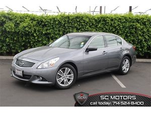 2012 Infiniti G37 Sedan Journey Carfax 1-Owner - No Accidents  Damage Reported to CARFAX  Grap