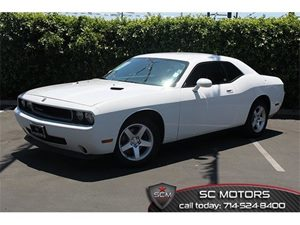 2010 Dodge Challenger SE Carfax 1-Owner  Bright White  All advertised prices exclude governmen