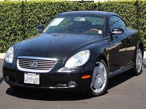 2002 Lexus SC 430  Carfax Report - No Accidents  Damage Reported to CARFAX  Black Onyx  All a