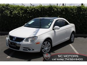 2008 Volkswagen Eos Turbo Carfax Report 3-Spoke Leather-Wrapped Steering Wheel 8-Way Leatherette