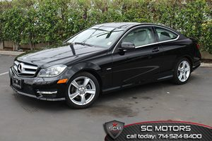 2012 MERCEDES C250 Coupe Carfax 1-Owner - No Accidents  Damage Reported to CARFAX  Black  All