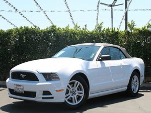 2014 Ford Mustang V6 Carfax 1-Owner  Oxford White CLEAN TITLE           CLEAN TITLE