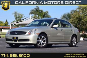 2005 INFINITI G35 Sedan  Carfax Report Convenience  Cruise Control Displacement  35L Engine