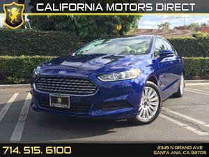 2013 Ford Fusion SE Hybrid Carfax 1-Owner - No AccidentsDamage Reported Audio  Auxiliary Audio