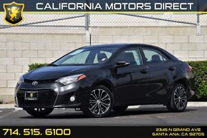 2015 Toyota Corolla S Carfax 1-Owner Audio  Auxiliary Audio Input Body-Colored Front Bumper Co