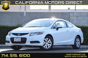 2012 Honda Civic Cpe LX Carfax Report - No AccidentsDamage Reported Audio  Auxiliary Audio Inpu