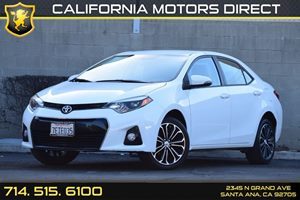 2014 Toyota Corolla S Carfax 1-Owner Audio  Auxiliary Audio Input Body-Colored Door Handles Co
