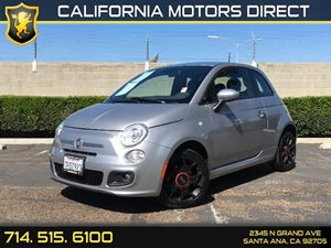 2015 FIAT 500 Sport Carfax 1-Owner - No AccidentsDamage Reported  Billet Argento Silver  1