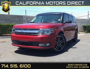 2014 Ford Flex SEL Carfax 1-Owner - No AccidentsDamage Reported  Ruby Red Metallic Tinted Clea