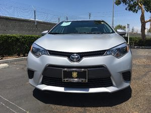 2015 Toyota Corolla LE Carfax 1-Owner  Classic Silver Metallic  We are not responsible for typ